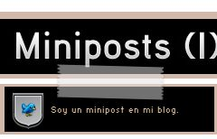 Como hacer Miniposts o Asides