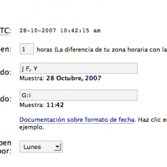 Cambiar la hora en WordPress