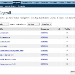Conoce el Panel de Administración – Blogroll