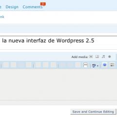 Prueba la nueva interfaz de WordPress 2.5