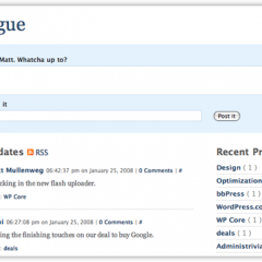 Prologue – WordPress se une al Microblogging
