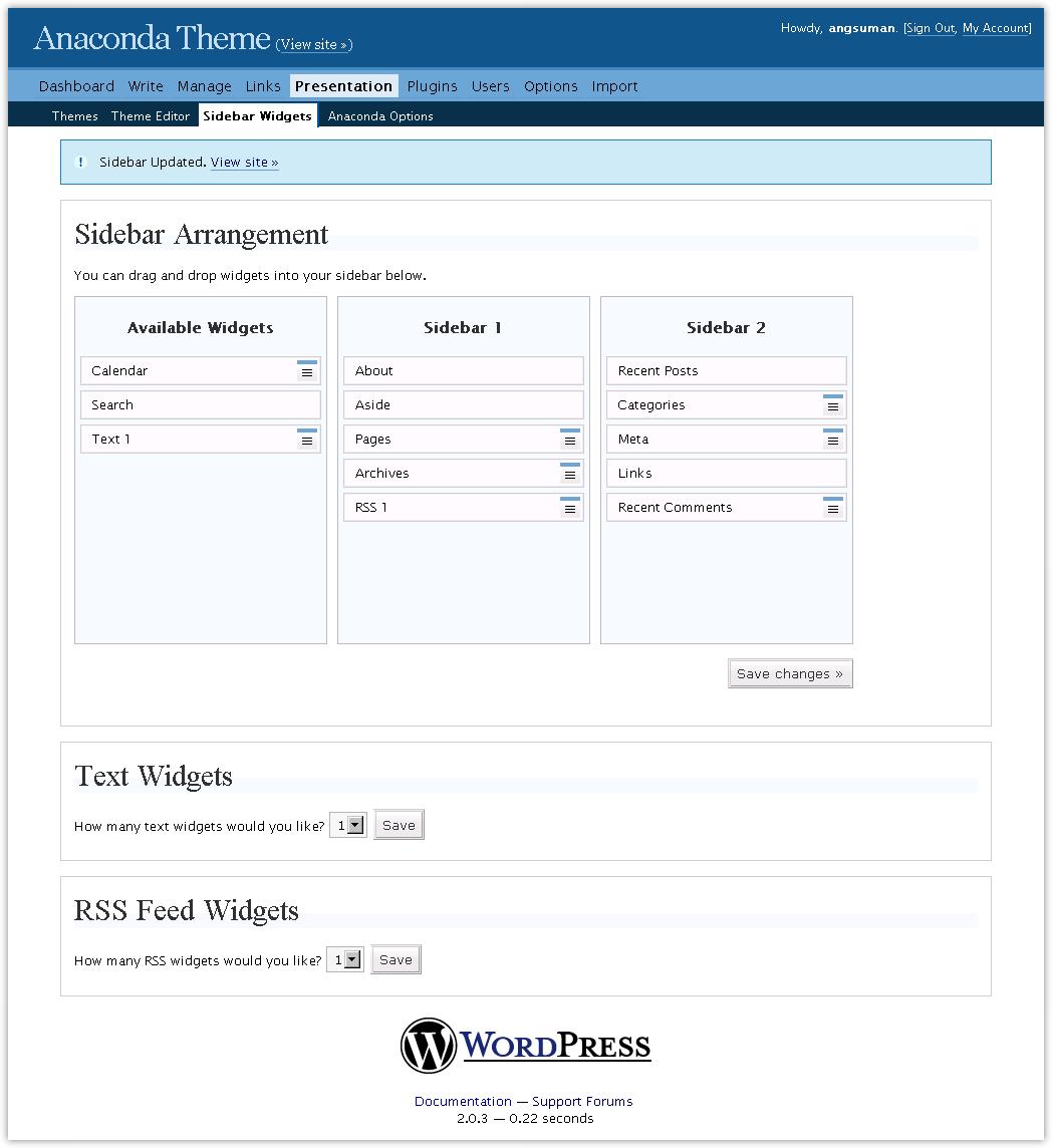 Añadir soporte de Widgets a una Plantilla • Ayuda WordPress