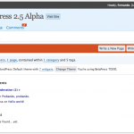 ¿Quieres probar Wordpress 2.5?