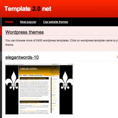 Mas de 2.400 plantillas gratis para WordPress