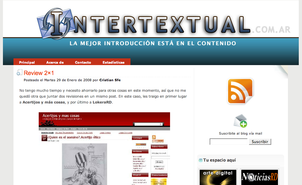 Blog del lector: Intertextual