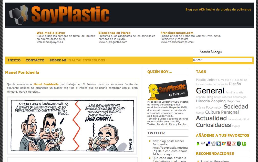 Blog del lector: Soy Plastic