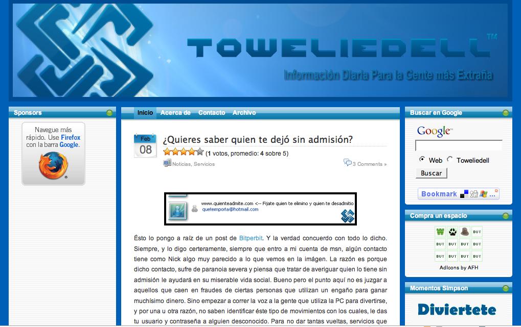Blog del lector: Toweliedell