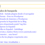 Plugin Wordpress traducido – LiveSearch