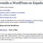 Como quitar el aviso de actualización de Wordpress
