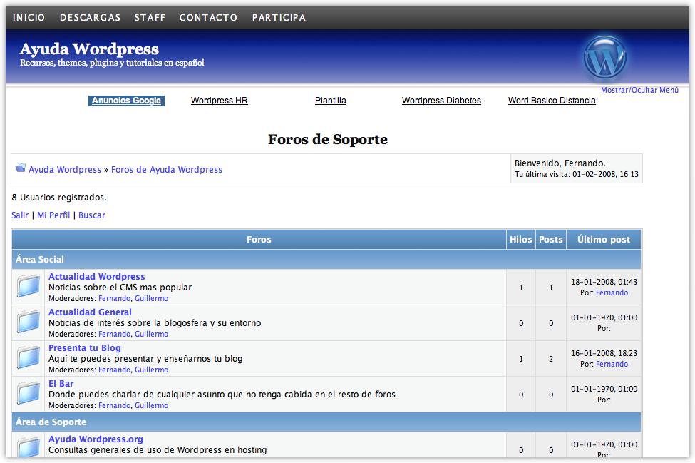WP-Forum - Foro en Wordpress • Ayuda WordPress