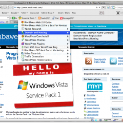 Barra Web 2.0 para WordPress