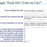 Guía All in one SEO pack – Configuración