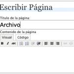 Crear una página de Archivo