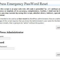 Ultimo recurso, resetear la clave de acceso al blog
