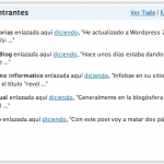 Enlaces entrantes en el Dashboard de Wordpress 2.5