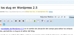 Editar los slug en WordPress 2.5