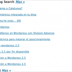 Enlaces entrantes WordPress 2.5 – Actualizado