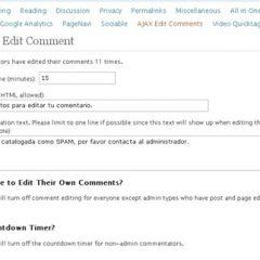 Plugin para que el visitante edite sus comentarios.