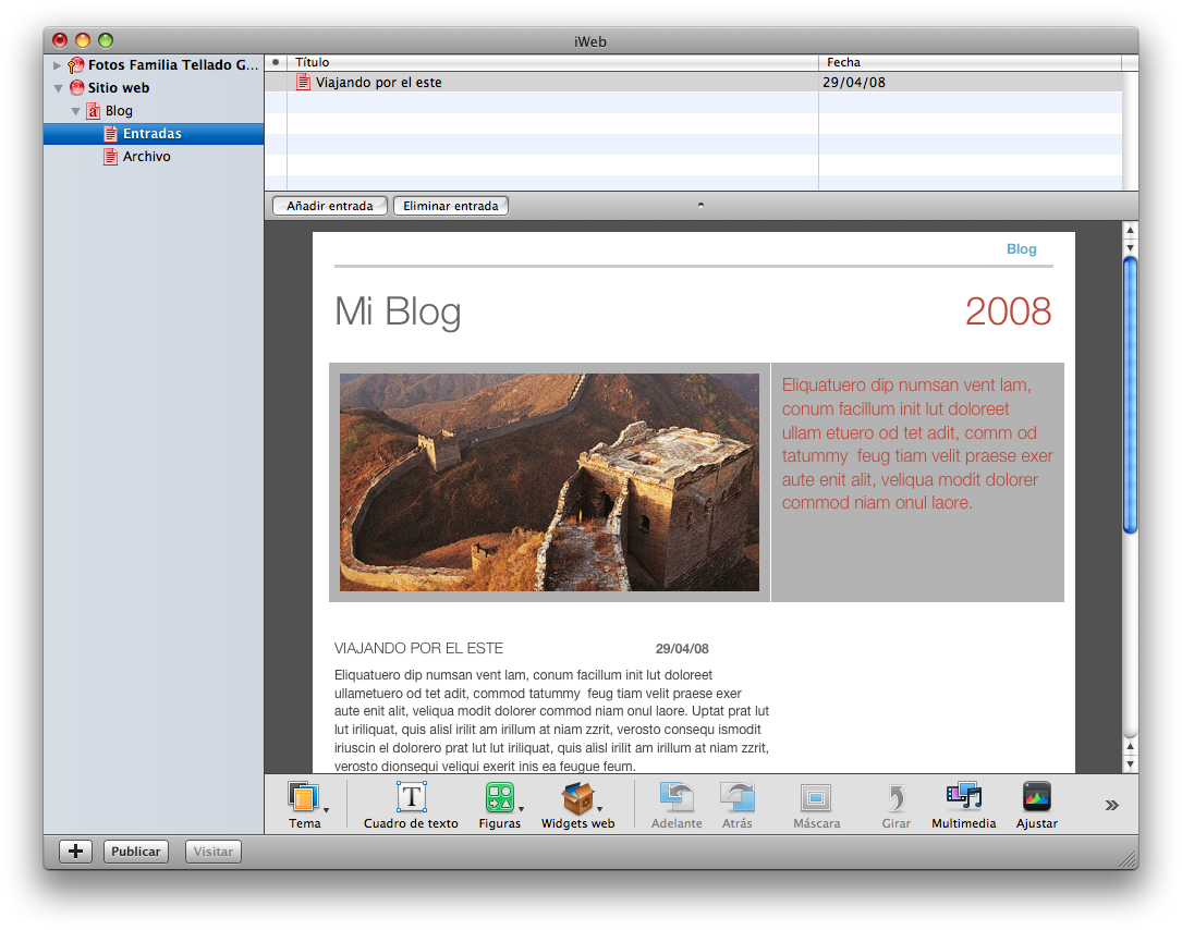Exportar Blog de iWeb a WordPress • Ayuda WordPress