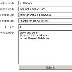 Contact Coldform, una buena alternativa a Cforms II