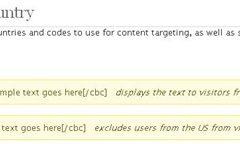 Plugin que incluye o excluye texto dependiendo el país.