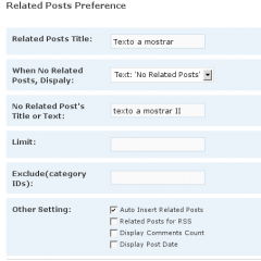 Post relacionados con WordPress Related Posts