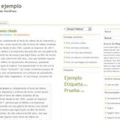 Plantilla en español – Simply tabbed