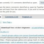 Typepad antispam funciona, y bien