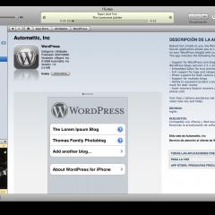 WordPress para iPhone en la iTunes Apps Store