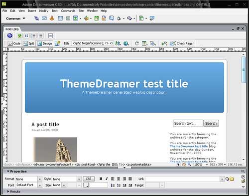 Diseña temas WordPress desde Dreamweaver • Ayuda WordPress