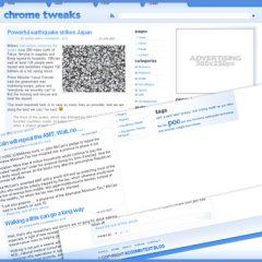 Google Chrome Tweaks – Plantilla WordPress