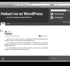 Habari en WordPress