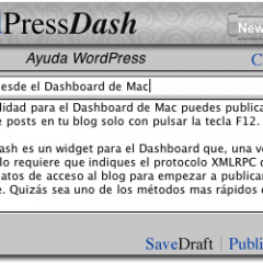 WordPress desde el Dashboard de Mac
