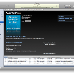 Ayuda WordPress en iTunes