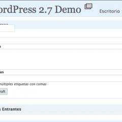 WordPress 2.7 cargadito de AJAX e Iconos
