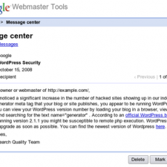 Google quiere que actualices WordPress