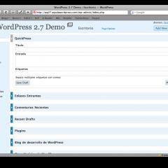 Widgets en el Escritorio de WordPress 2.7