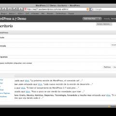Las Novedades de WordPress 2.7