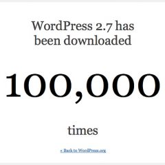 WordPress 2.7 – 100.000 descargas en 20 horas