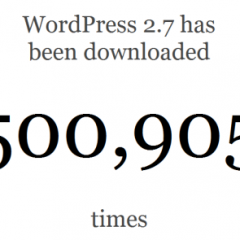 500.000 descargas de WordPress 2.7