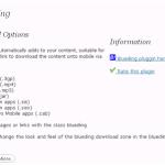 Blueding – Descarga contenido de tus posts en el móvil