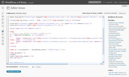 CodePress: Lenguaje PHP (themes)