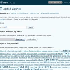 Instalación via web de themes en WordPress 2.8