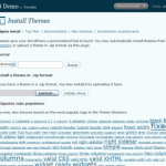Instalación via web de themes en WordPress 2.8
