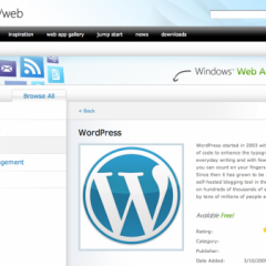 Microsoft Web Apps incluye WordPress