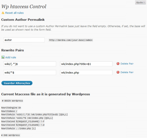 wp-htaccess-control