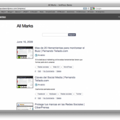 bmPress: Marcadores sociales WordPress
