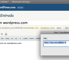 WP.me, el acortador de URLs de WordPress.com