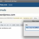 WP.me, el acortador de URLs de WordPress.com