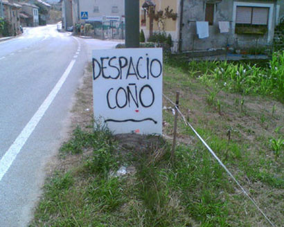 despacio coño
